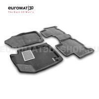 Текстильные 3D коврики Euromat3D Lux в салон для Toyota Rav 4 (2013-2019) № EM3D-005125G Серые