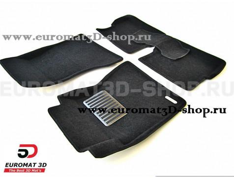 Текстильные 3D коврики Euromat3D Lux в салон для Cadillac CTS (2007-) (4WD) № EM3D-001305