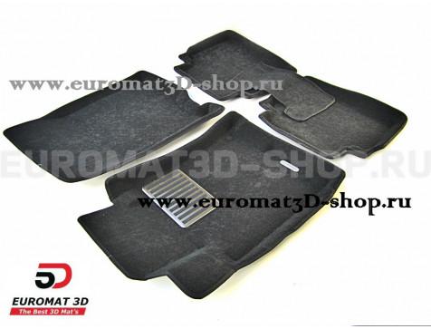 Текстильные 3D коврики Euromat3D Lux в салон для Acura ZDX (2009-2013) № EM3D-002613
