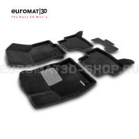 Текстильные 3D коврики Euromat3D Premium в салон для Skoda Octavia A7 (2013-2020) № EMPR3D-004507
